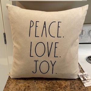 New Rae Dunn Peace Love Joy Throw Pillow